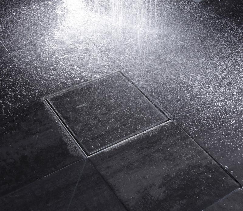Art douche square drain siphon carr pour douche l for Siphon de douche a l italienne